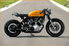 Yamaha Virago 750 by Doc Chops | Maybe the only monoshock cafe racer I've come across that I actually like. So nice.