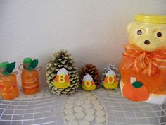 Bacon Time With The Hungry Hypo: Halloween Pine Cone Craft Pinecone Ornaments, Christmas Ornaments, Pine Cone Crafts, Pretty And Cute, Candy Corn, Pine Cones, Planter Pots, Merry Christmas, Halloween