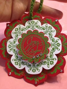 Medallion Ornament by binkiemonstermom - Cards and Paper Crafts at Splitcoaststampers