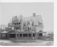 Smithies, saloons & a few stores straggled along 'Market Street,' ending in what seems to have been a little slum of Irish immigrants. South of the crest of the bluffs, more shops and saloons were joined by residences, in several of which room and board were offered.