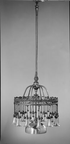 Chandelier Designed by Louis Comfort Tiffany  Tiffany Glass and Decorating Company  ca. 1900–1910