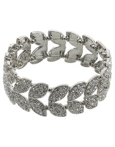 Deco Petal Stretch Bracelet by Accessorize. Available through the Wedding Heart website: http://www.weddingheart.co.uk/accessorize---bridal-jewellery-and-bags.html