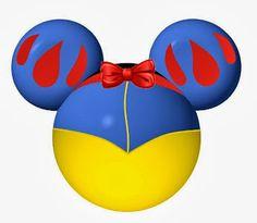 Princesas Disney en siluetas de Mickey. | Ideas y material gratis para fiestas y celebraciones Oh My Fiesta!