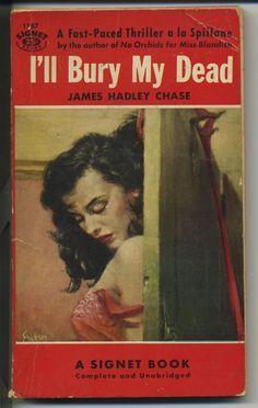 vtg pulp fiction book novel I'll Bury My Dead thriller murder mystery