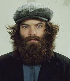 full thick bushy dark beard and long mustache beards bearded man men mens' style hats wild hair handsome #beardsforever