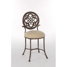 Hillsdale Furniture 50981 Marsala 16 Inch Wide Metal Vanity Stool with Upholster Gray with Rust Highlights Indoor Furniture Stools Vanity Vanity Seat, Vanity Stool, Vanity Chairs, Vanity Tables, Hillsdale Furniture, Space Furniture, Chicago Furniture, Furniture Buyers, Furniture Stores