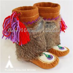 #Adorable #baby #moccasin #mukluks made by a #Tlicho from #Behchoko on http://onlinestore.tlicho.ca