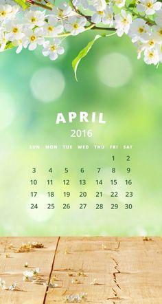 April calendar 2016#wallpapers iPhone