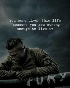 Quotes : You were given this life because you are strong. Positive Quotes : You were given this life because you are strong.Positive Quotes : You were given this life because you are strong. Wise Quotes, Famous Quotes, Success Quotes, Great Quotes, Words Quotes, Motivational Quotes, Inspirational Quotes, Fury Quotes, Sayings