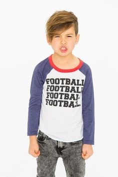 Stay sporty in this red, white, and blue baseball tee! Super soft and perfectly comfy. Cool Boys Haircuts, Boy Haircuts Short, Toddler Boy Haircuts, Little Boy Haircuts, Medium Bob Hairstyles, Hairstyles For Round Faces, Boy Hairstyles, Men's Hairstyle, Casual Hairstyles