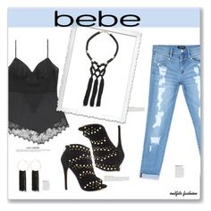 """All Laced Up for Spring with bebe: Contest Entry"" by rosipolooyas ❤ liked on Polyvore featuring Bebe, Anja and alllacedup"