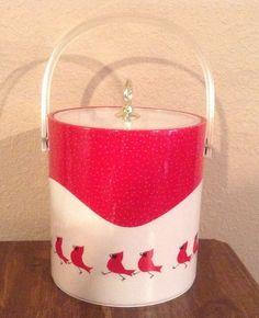 Cera ice bucket with cardinals.