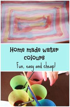 Recycle your old pens into water colours for hours of fun!