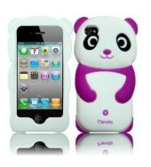 IPHONE 5 CASE  A SOFT SILICON PURPLE PANDA CASE COVER, CUSTOM MADE FOR THE PHONE, THIS CASE PROVIDES AN IDEAL FIT AND FULL FUNCTIONALITY