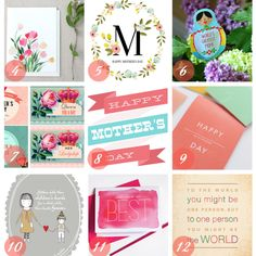 Pretty Printables for Mother's Day