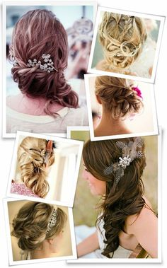 Romantic updos with accessories for bridesmaids ;)