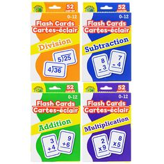 Shop Great Deals on: Math Flash Cards, Assorted plus free ship to store! Make Flash Cards, Addition Flashcards, Basic Math, Classroom Setting, Math Facts, Office And School Supplies, Kids Cards, Teaching, Education