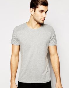 "T-shirt by Jack & Jones Soft-touch jersey Crew neck Ribbed shoulder panel Regular fit - true to size Machine wash 100% Cotton Our model wears a size Medium and is 188cm/6'2"" tall"