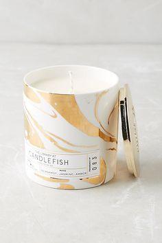 Candlefish Ceramic Candle - anthropologie.com