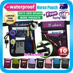 - Nurse Pouch Extra Pocket Quick Pick Vet Agecare Bag With Belt Strap Free Keyring Nurse Pouch, Nurse Bag, Nursing Accessories, Aged Care, Pouch Pattern, Tool Belt, Nurse Gifts, Bag Organization, Purses And Bags