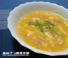 Chicken and Corn Soup (Chinese Quick Soup Recipe) from Christine's Recipes