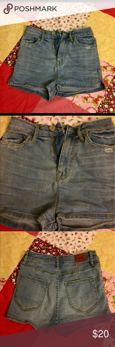 BDG Super High Rise Pin Up Shorts Preowned but in great condition! Urban Outfitters Shorts Jean Shorts