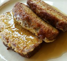 LOW CARB: French Toast Recipe - from Sugar Free Like Me (impressive - made from her popular Almond Bread)