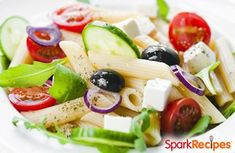 This penne pasta salad is a healthier take on a classic cookout side dish.