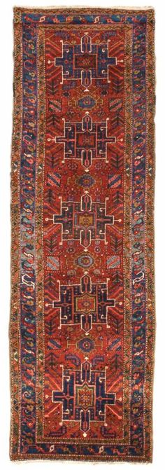 Heriz Persian Rugs Number 11952, Serapi Antique Rugs   Woven Accents