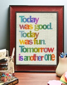 Today was good... Inspirational Quote. Decoration print (poster)