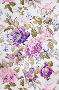 Mega Chintz Ultra Violet Fabric No: 8398402 100% Linen Width: 58 in (147.32 cm)…