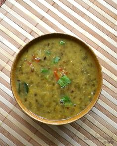 Split Green Beans (chilka moong dal) made in a simple Sindhi style. Lentil Recipes, Veg Recipes, Indian Food Recipes, Real Food Recipes, Vegetarian Recipes, Cooking Recipes, Vegan Vegetarian, Recipies, Split Green Moong Dal Recipe