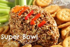 Super Bowl Cheese Ball on MyRecipeMagic.com #cheeseball #superbowlsnacks