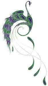 peacock tattoo-a bit more detail in the tail