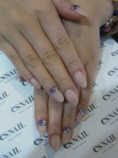 Nude Nails With Embellishments