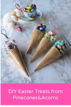 DIY Easter Treats in Edible Candy Cones