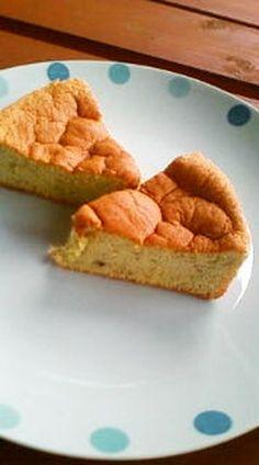 A Snack for Children Fluffy Banana Cake