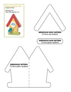 Birdhouse Card Pattern and more