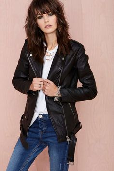 Muubaa BF Leather Jacket | Shop Fall Of The Wild at Nasty Gal