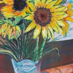 Andy's Sunflowers by Jacqui Simpson