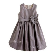 Grey Taffeta Flower Girl Dress by DressCreative on Etsy, $75.00  ANOTHER crewcuts knock off - must have the pattern and 1/2 the price!!!  Also custom colors available.