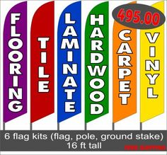 TWO Diesel Sold Here 15 foot Swooper Feather Flag Sign