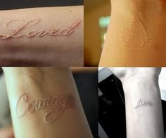 white wrist tattoo.  I may have to go with this, I love the softness.  I wonder how long it will last before fading out???