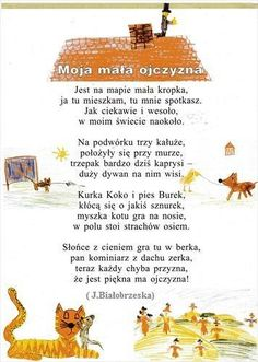 Wierszyk ojczyzna Poems About School, Learn Polish, Teacher Morale, Activities For Kids, Crafts For Kids, Polish Language, Babysitting, Kids And Parenting, Kids Learning