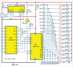 Circuit diagram of receiver section