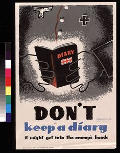 """Don't keep a diary"""