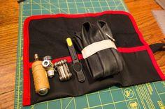 DIY, saddle, tool roll, bicycling, 315 workshop, craft, bike, tool kit. saddle bag