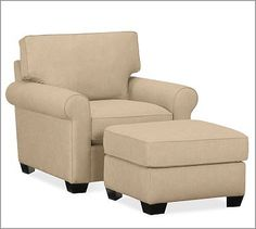 Buchanan armchair in Washed Linen/Cotton Camel, $699