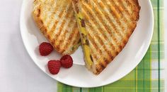 This Bocconcini Egg and Sausage Panini from Tre Stelle is a complete breakfast in one bite. Panini Maker, Brunch, First Bite, Slice Of Bread, Melted Butter, Sauce, Fresh Fruit, Pecan, Paninis