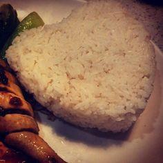 #Liebe geht durch den #Magen - süßes #Herz, oder? #Essen #Dinner #Reis #Rice #china